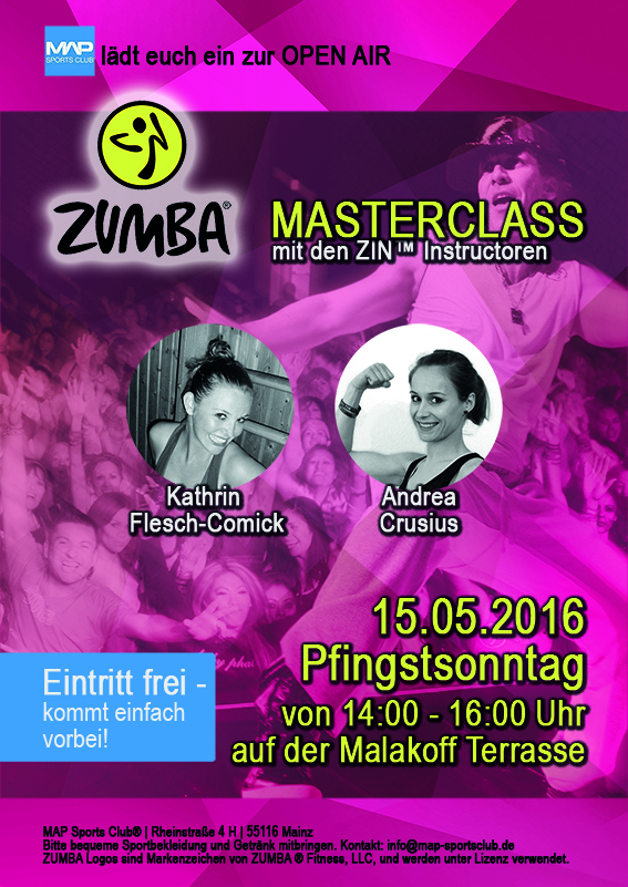 Zumba im Fitnessstudio Map Sports Club in Mainz
