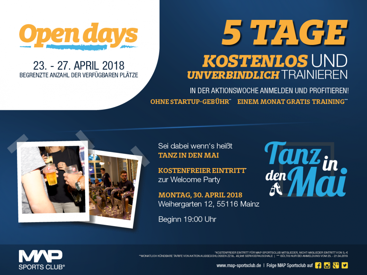 fitnessstudio Map sports Club mainz open days