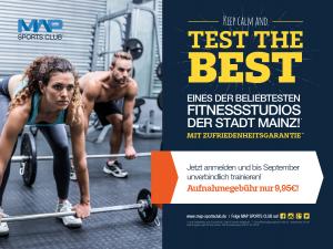 Fitnessstudio Map Sports Club Sommeraktion 2018