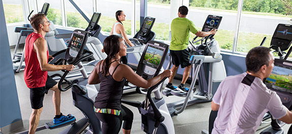 precor Cardio Geräte im MAp Sports Club Mainz