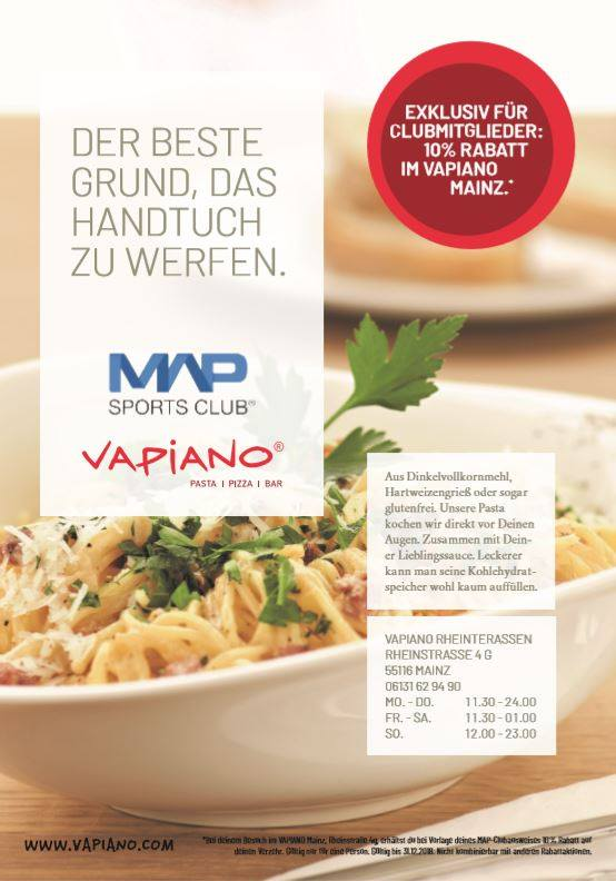 Map Sports Club und vapiano