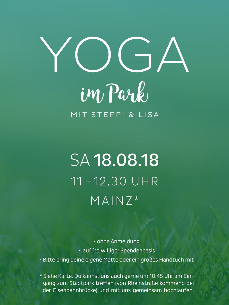 Fitnessstudio map sports club Yoga im Park