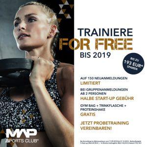 Fitnessclub map sports club mainz Aktion 2018
